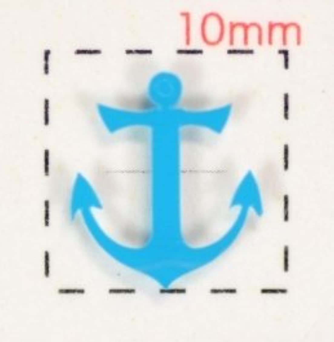 運営サーキットに行く疲労ビーチ&サマー【いかりネイルシール】(3)ブルー/1シート9枚