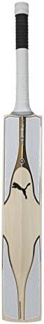 Puma, Cricket, Evopower Special Edition English Willow Cricket Bat, Senior, White/Silver, Small