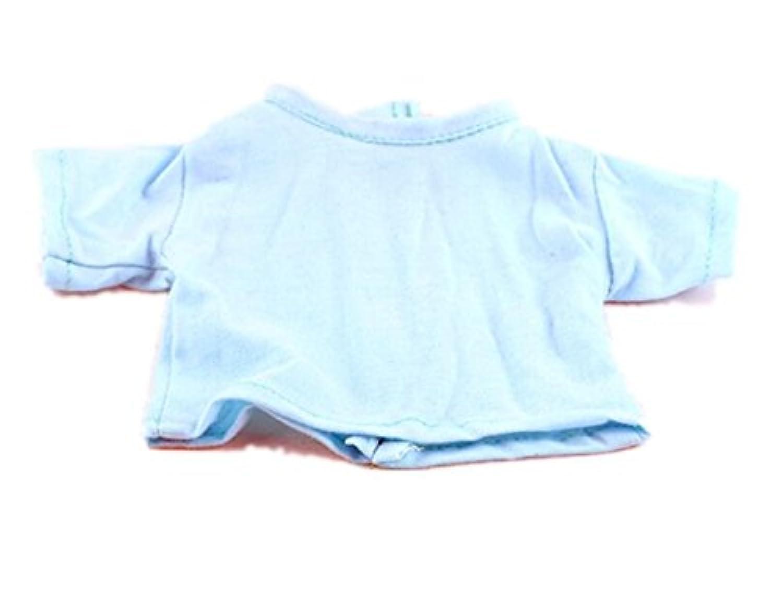 HuaQingPiJu-JP 18インチアメリカンガールドールTシャツ(スカイブルー)