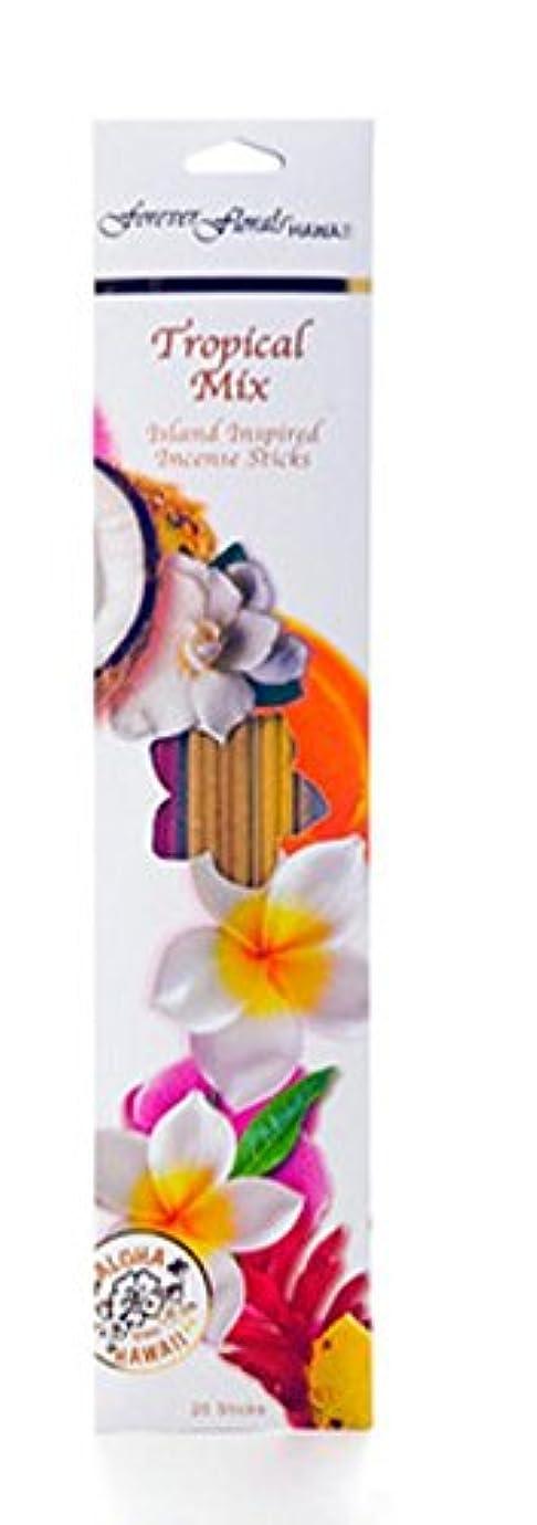 採用するガイダンス行進ハワイアンForever Florals Incense Sticks Assortedパック 8 Packs