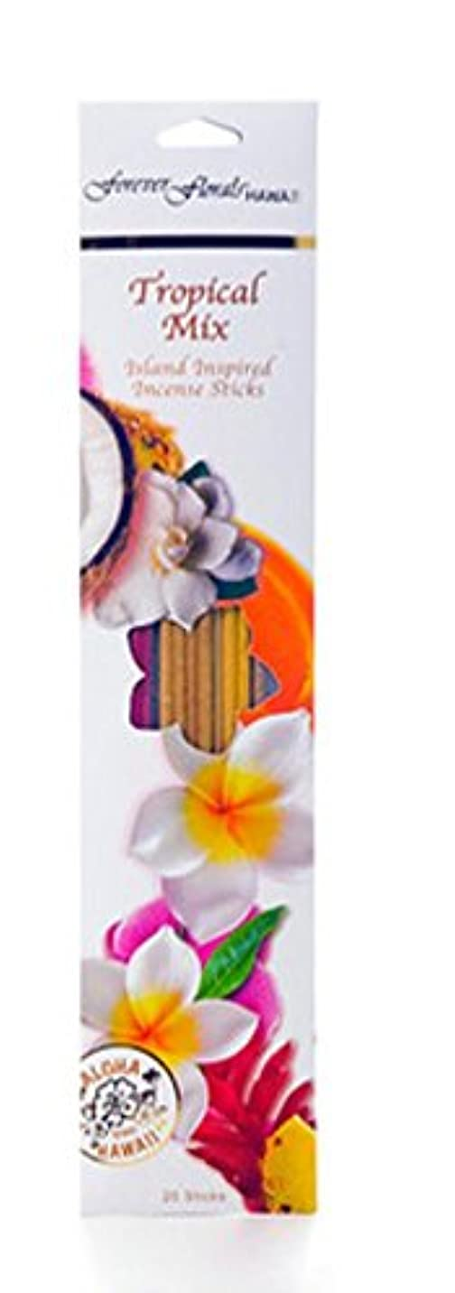 横向き剪断ライトニングハワイアンForever Florals Incense Sticks Assortedパック 8 Packs