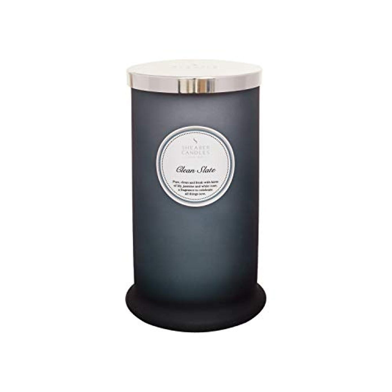 護衛力強い窒息させるShearer キャンドル クリーンスレート 香り付き トールピラージャーキャンドル コットン芯 フレグランス&エッセンシャルオイル グレー ホワイトシルバー ラージ