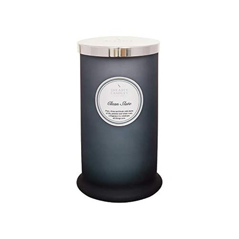 崇拝します展開する多数のShearer キャンドル クリーンスレート 香り付き トールピラージャーキャンドル コットン芯 フレグランス&エッセンシャルオイル グレー ホワイトシルバー ラージ