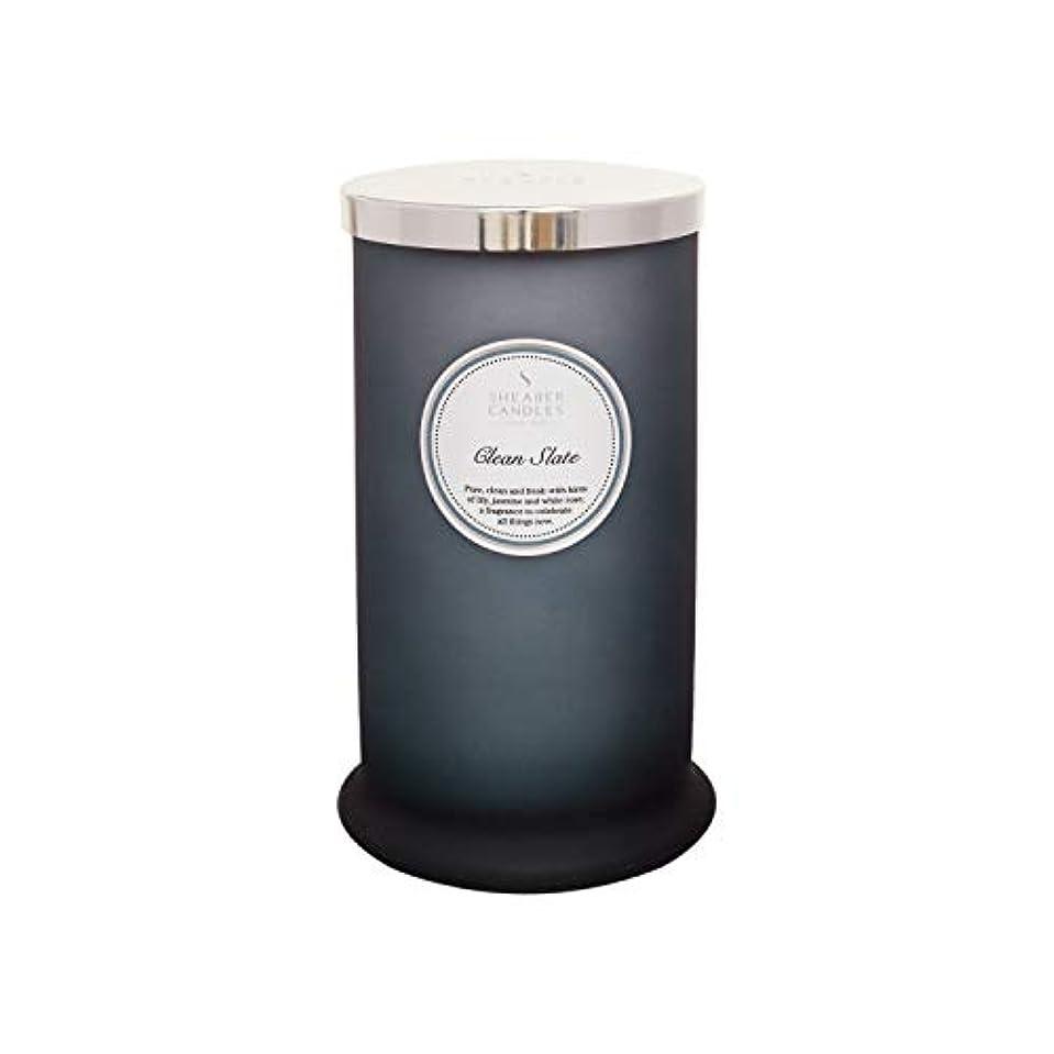 有効化不名誉ポーンShearer キャンドル クリーンスレート 香り付き トールピラージャーキャンドル コットン芯 フレグランス&エッセンシャルオイル グレー ホワイトシルバー ラージ