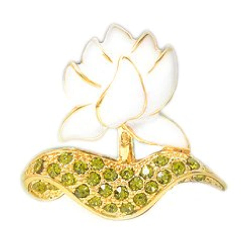 [ノーブランド] 蓮の花ピンブローチ ホワイト