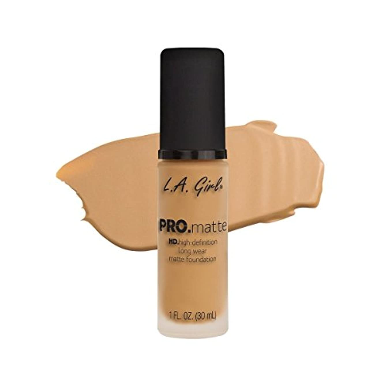 バーガー漂流圧倒的(3 Pack) L.A. GIRL Pro Matte Foundation - Natural (並行輸入品)