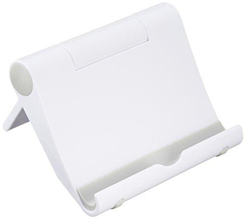 【Amazon認定】タブレット/スマホ スタンド 角度調整可能 NuPro プラスティック ホワイト Kindle, iPad, iPad mini, iPhone, Nexus 7等