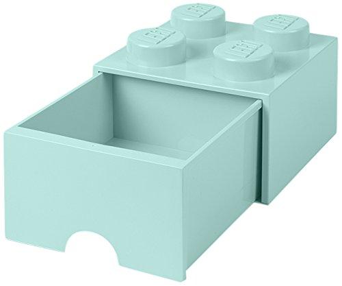 LEGO(レゴ) 収納ケース・ボックス アクアライトブルー 250×250×180mm 40051742