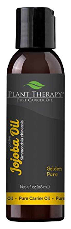滑り台とは異なりスキップJojoba Oil 4 oz., 100% Pure, Cold-Pressed, Natural and GMO-free Moisturizer and Carrier Oil for Essential Oils by Plant Therapy by Plant Therapy Essential Oils
