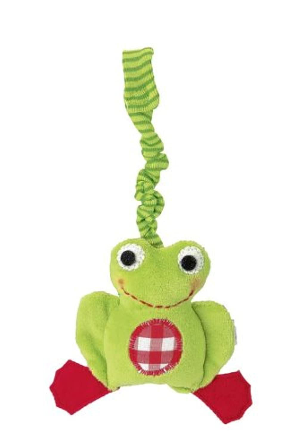 Kathe Kruse - Frog Chopin Stuffed Rattle by K?the Kruse