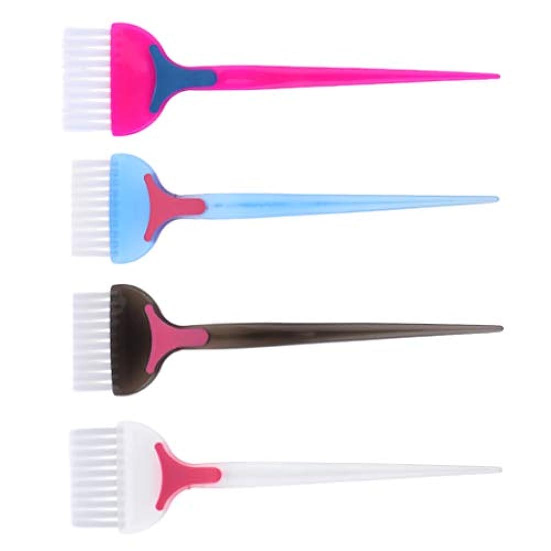 三角形ピック戻すヘアダイ コーム 髪染めブラシ 天然樹脂 耐高温 帯電防止 靭性 壊れにくい 家庭用 美容師プロ用