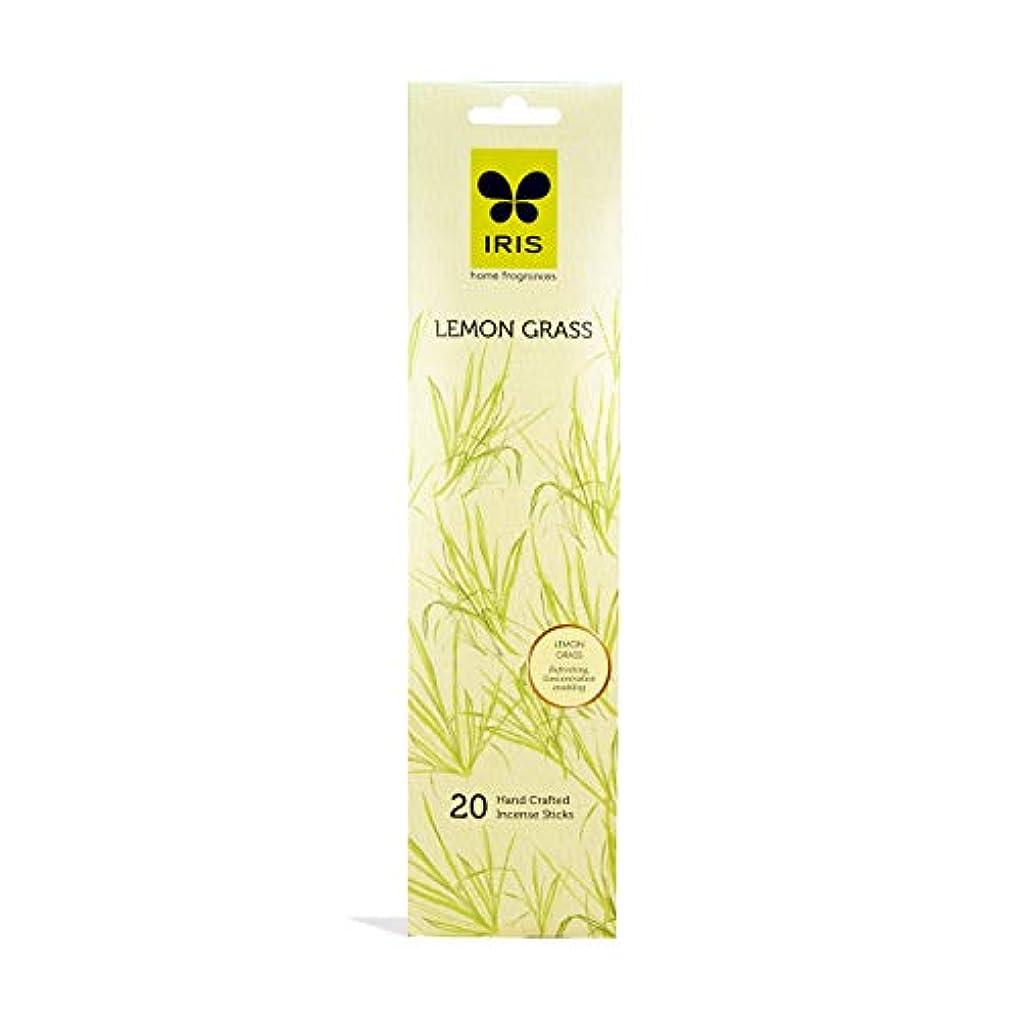 ラジカル謝罪するくさびIRIS Signature Lemon Grass Fragrance Incense Sticks