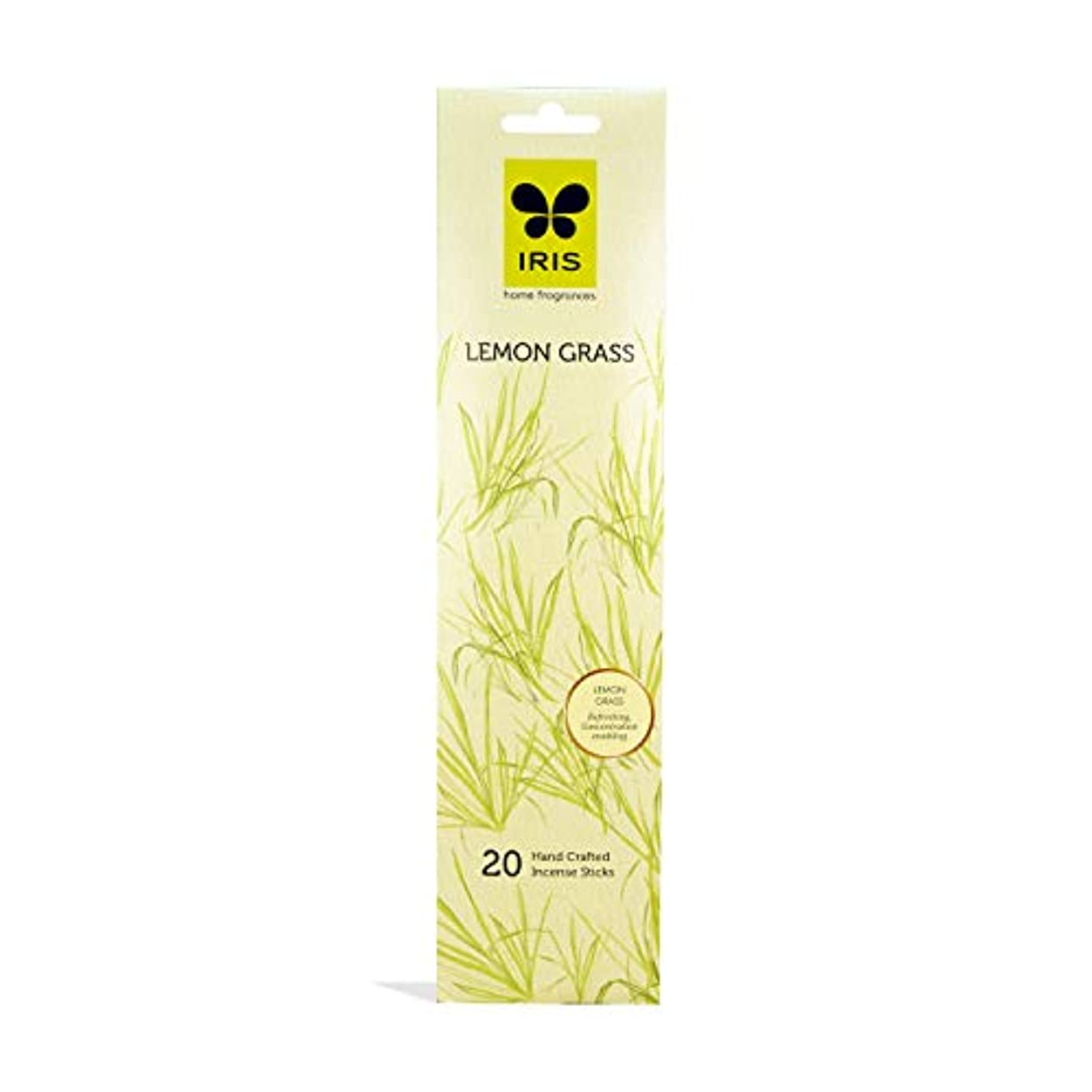 払い戻しファン穿孔するIRIS Signature Lemon Grass Fragrance Incense Sticks