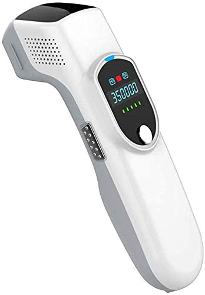 動かす同僚幸運なことにHSBAIS 女性と男性のための脱毛システム、常設 無痛 レーザー脱毛器 35000回の点滅ビキニライン/足/腕/脇の下,White