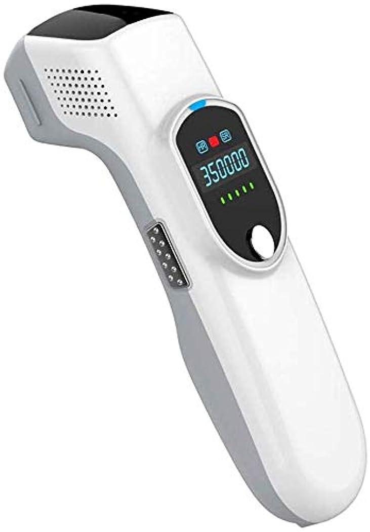 北極圏容赦ない新しさHSBAIS 女性と男性のための脱毛システム、常設 無痛 レーザー脱毛器 35000回の点滅ビキニライン/足/腕/脇の下,White