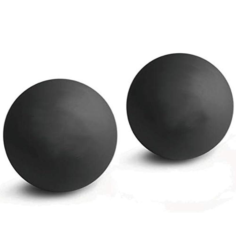 ランドリー黒聞きます2個入マッサージボール 触覚ボール ストレッチボールトリガーポイント 肩 背中 腰 足裏 全身 ツボ押しグッズ