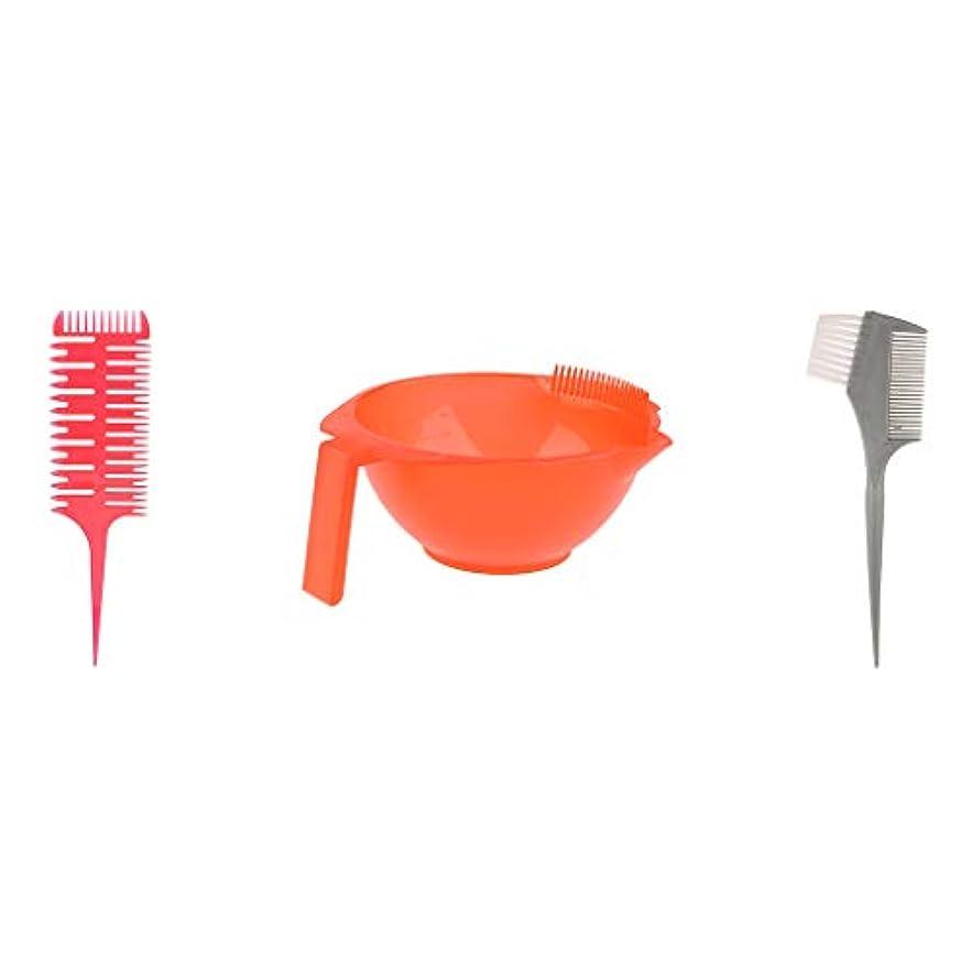 一般化する北極圏装備するへアカラーセット ブラシボウル付き ヘアダイブラシ DIY髪染め用 サロン 美髪師用 ヘアカラーの用具