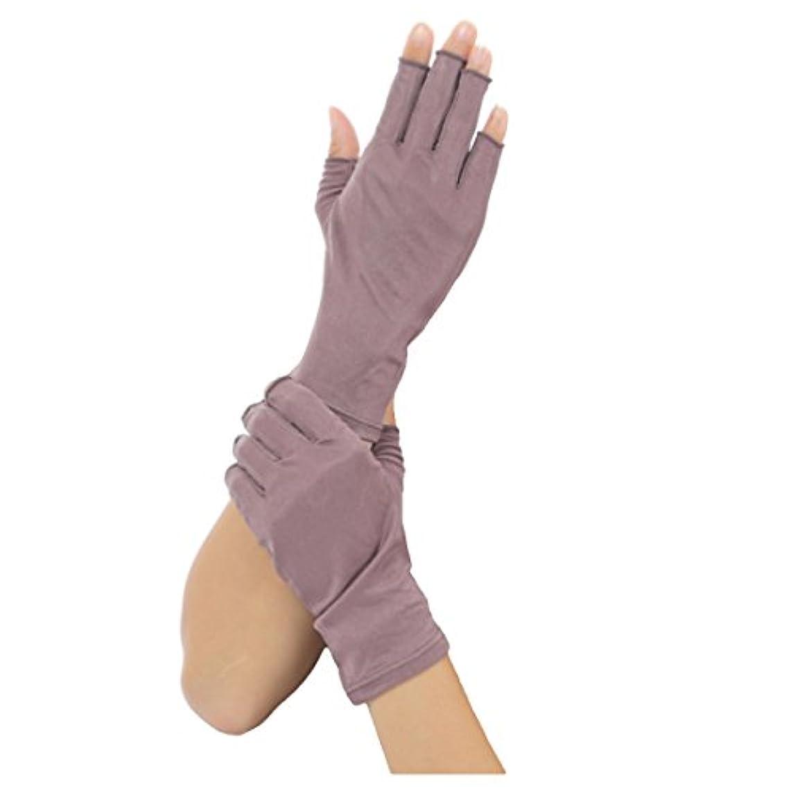 それによってために対応するSilk 100% シルク 手袋 指先カット タイプ 薄手 オールシーズンOK 外出時の 紫外線 UV 対策 スマホ PC 操作 や ICカード 取り出しもらくらく! 手首 ゆったり おやすみ フィンガーレス スキンケア...