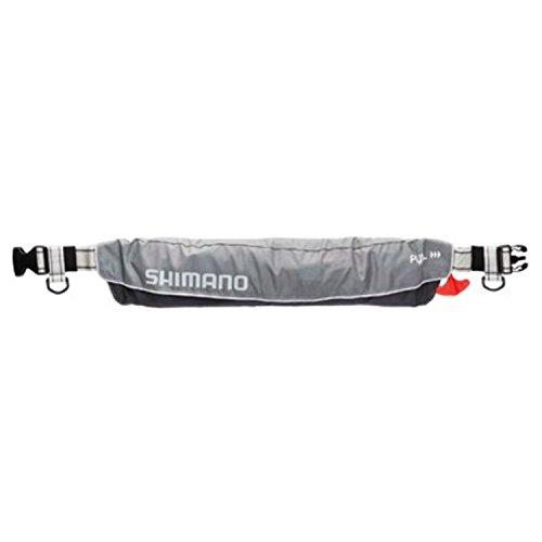 シマノ(SHIMANO) ライフジャケット ウエスト ベルト 自動膨張 VF-052K 釣り 救命胴衣 ライトグレー (国土交通省認定品) フリーサイズ