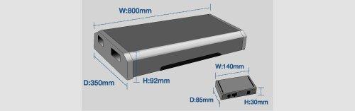 アルパイン(ALPINE) パワードサブウーファー 小型アンプ付属ボックスタイプ SWE-2200