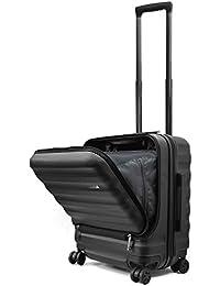 Endless Trip スーツケース 機内持込 MAXサイズ フロントオープン 軽量 サイド ストッパー付き 40L 1-4泊対応 オールPC素材 マット加工 多収納ポケット 静音 8輪 キャスター TSAロック トップオープン キャリーケース 機内持ち込み ビジネス 出張 旅行 【メーカー1年保証】