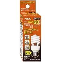 NEC(エヌイーシー) 電球形蛍光ランプD形60W電球色(E17) EFD15EL11E17C3C
