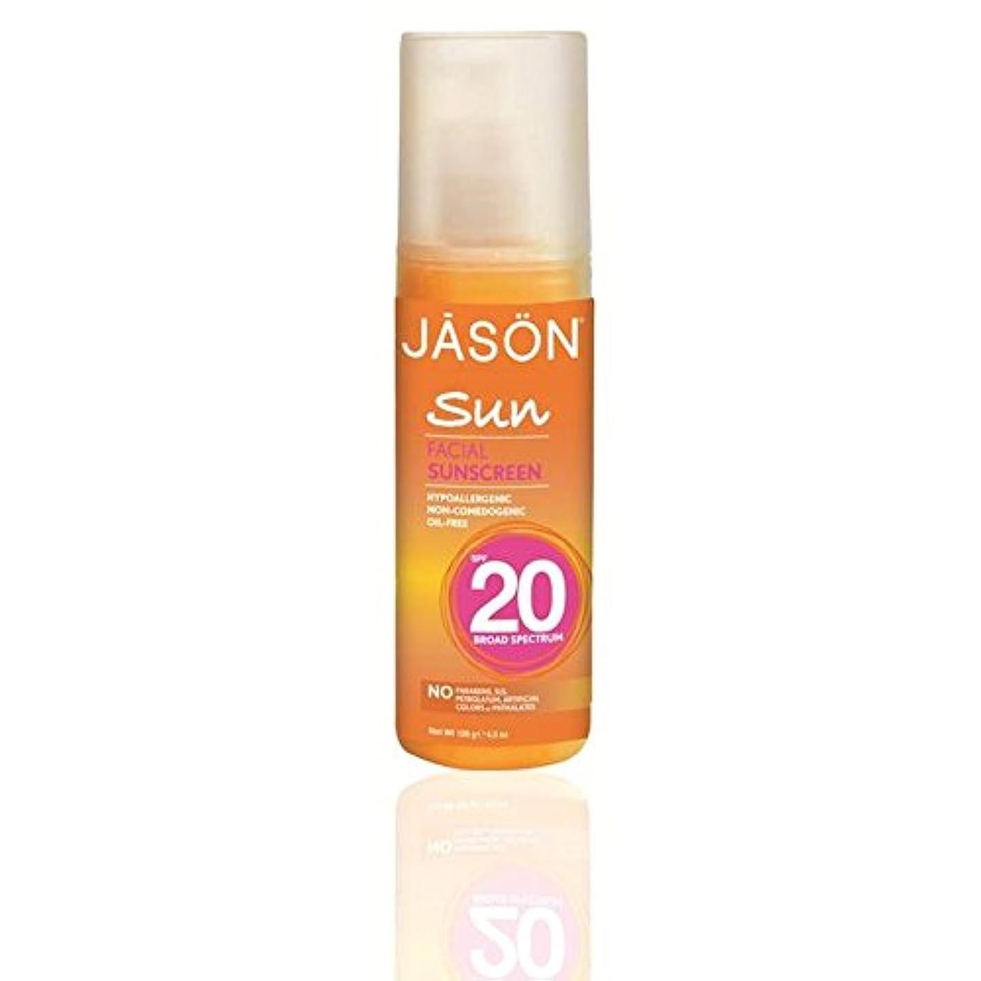 に向けて出発チューリップあいまいなJason Facial Sunblock SPF20 128g (Pack of 6) - ジェイソン顔の日焼け止め20の128グラム x6 [並行輸入品]