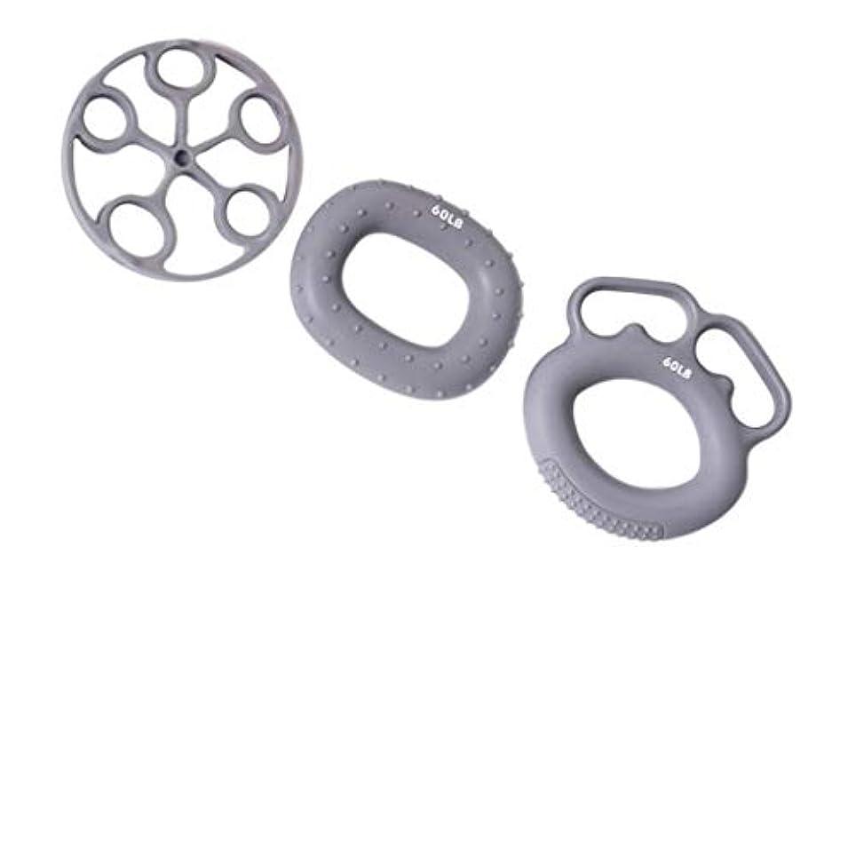 リットル蜜中絶ハンドグリップ シリコン フィンガーグリップ 握力トレーニング エクササイズ 全3カラー - グレー