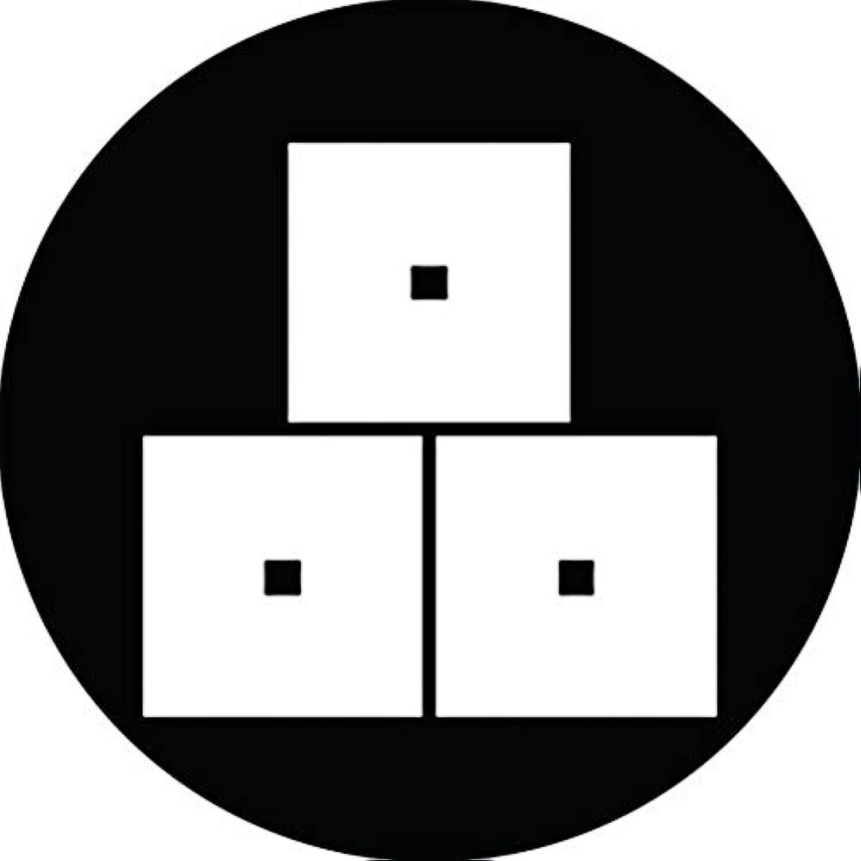 家紋シール 菅沼三つ目紋 布タイプ 直径40mm 6枚セット NS4-1969
