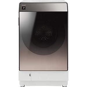 シャープ SHARP ドラム式洗濯乾燥機(ハイブリッド乾燥) ブラウン系 右開き(ヒンジ右) 幅640mm 奥行728mm DDインバーター搭載 洗濯11kg/乾燥6kg ES-U111-TR