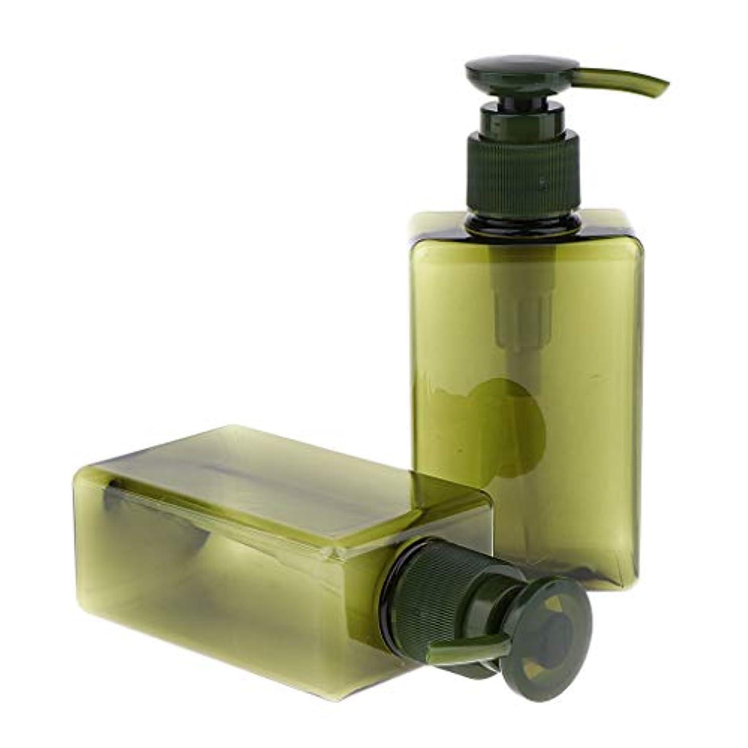 音節男らしい踊り子Sharplace 空ボトル ローションポンプボトル 詰め替え シャンプー用容器 150ml 漏れ防止 4色 - 緑