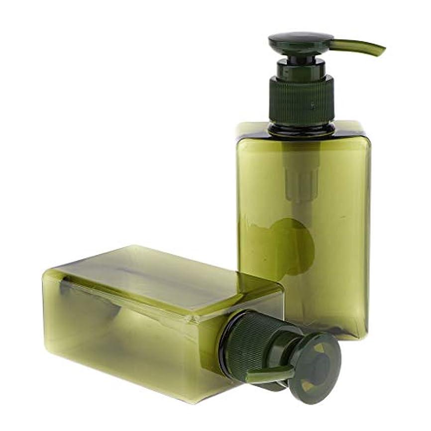 努力昇るマッサージSharplace 空ボトル ローションポンプボトル 詰め替え シャンプー用容器 150ml 漏れ防止 4色 - 緑