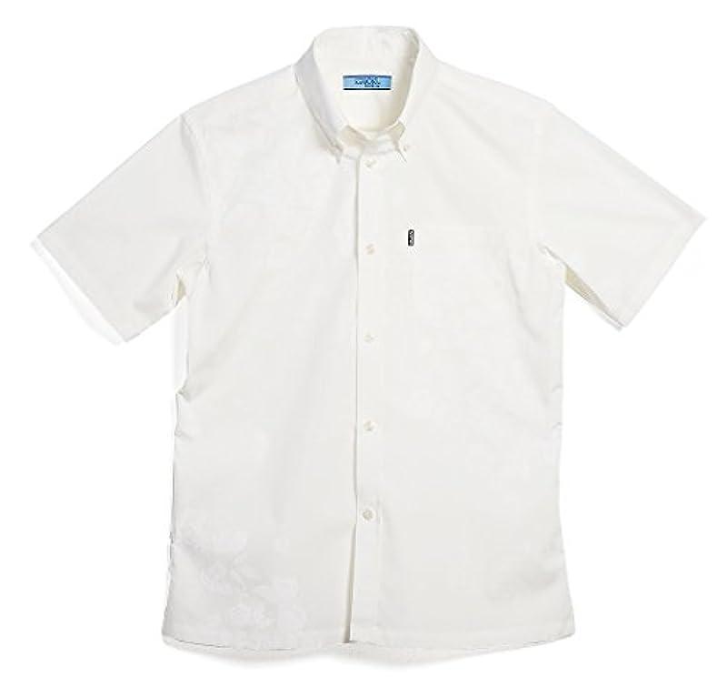 怒ってアルカトラズ島MAJUN (マジュン) かりゆしウェア アロハシャツ かりゆし 結婚式 メンズ 半袖シャツ ボタンダウン グリッターブーゲン