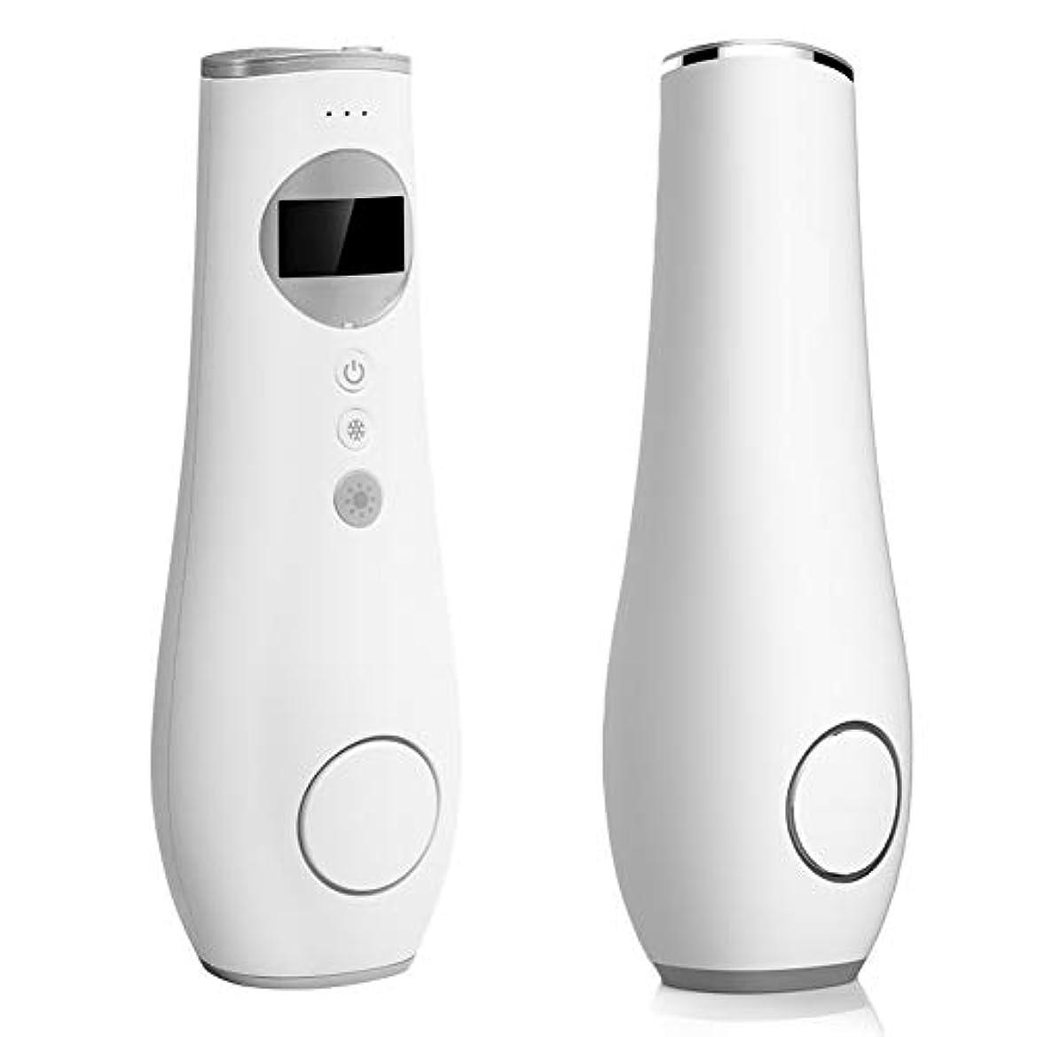 母音慣れる放つ光美容機、3 in 1 IPL 400,000フラッシュフェイシャルボディ痛みのないレーザー脱毛器冷却ケアにきび若返りビキニトリマーホーム美容機器