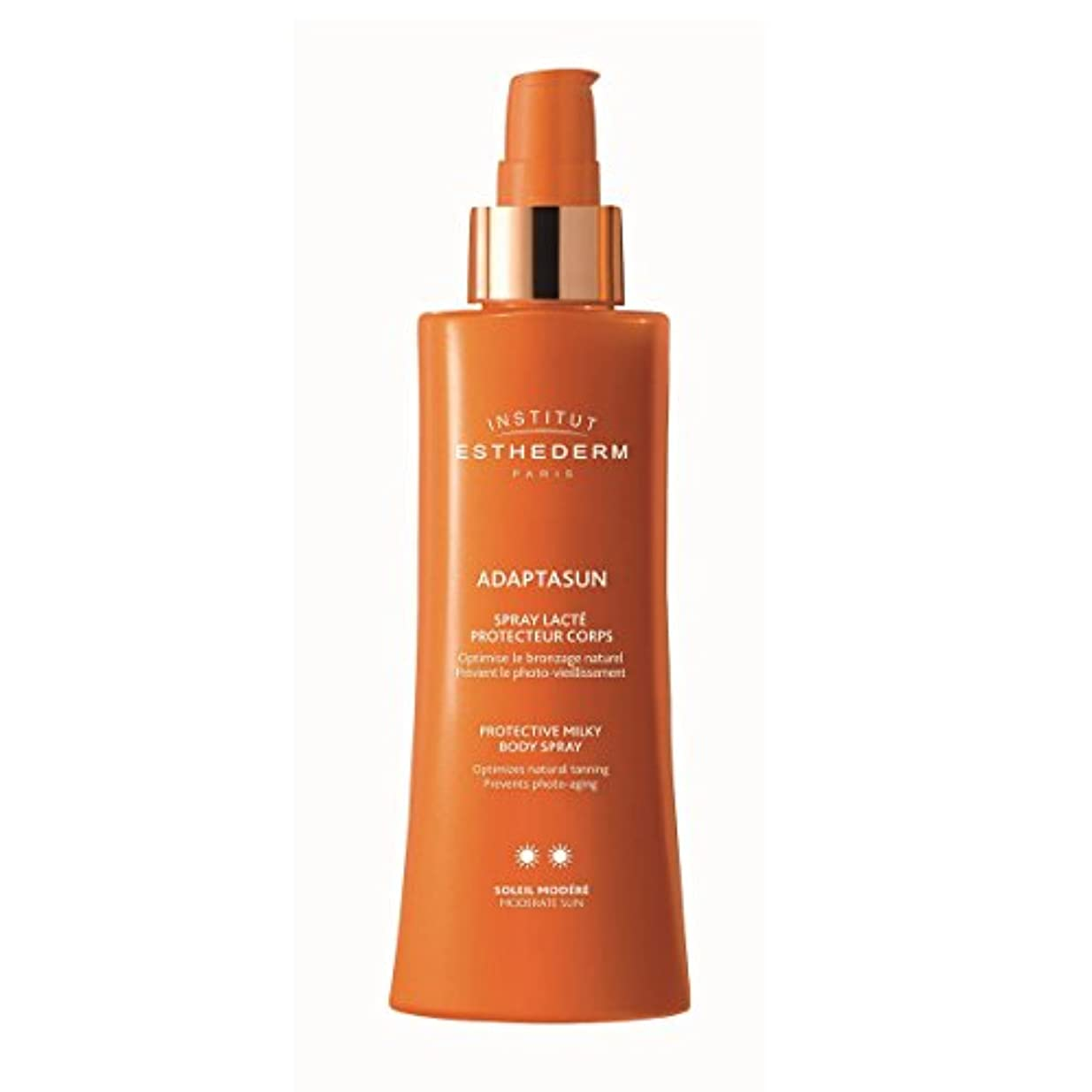 航海の延期するオゾンInstitut Esthederm Adaptasun Protective Milky Body Spray Moderate Sun 150ml [並行輸入品]