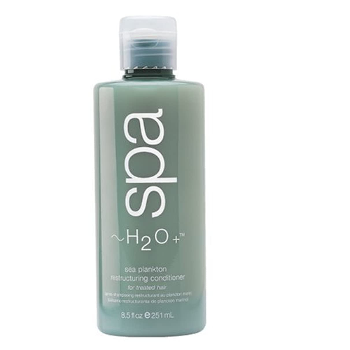 ルビーティーンエイジャー遠洋のH2O + Sea Plankton Restructuring Conditioner For Treated Hair 8.5 Fl.Oz. by H2O Plus by H2O Plus