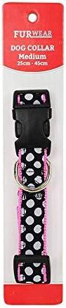 Furwear Dog Fashion Collar, 25-45cm, Black/White