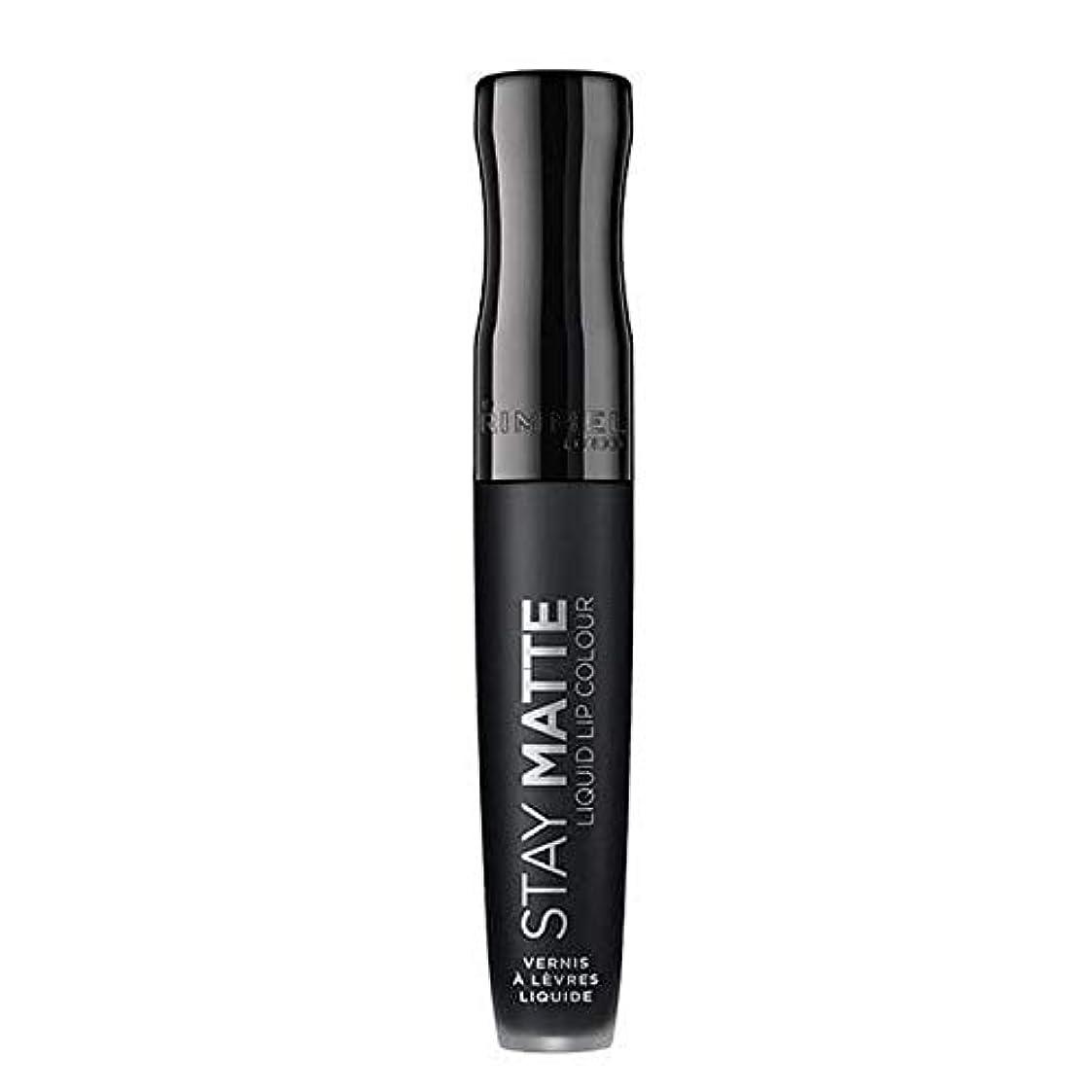 ラバ誇大妄想聖歌[Rimmel ] リンメルステイマット液状口紅ピッチ黒840 - Rimmel Stay Matte Liquid Lipstick Pitch Black 840 [並行輸入品]