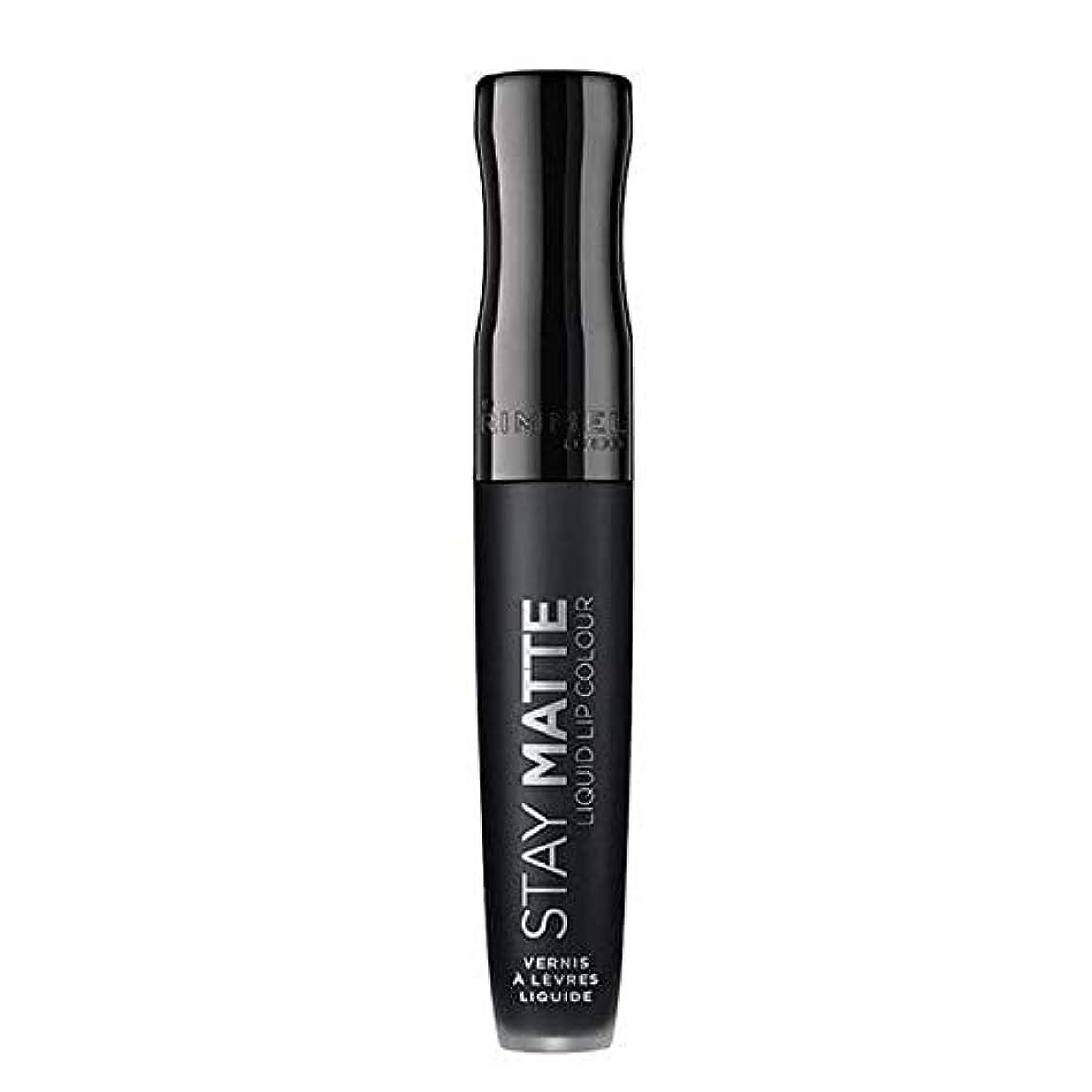 打ち上げる盆地ジョージハンブリー[Rimmel ] リンメルステイマット液状口紅ピッチ黒840 - Rimmel Stay Matte Liquid Lipstick Pitch Black 840 [並行輸入品]