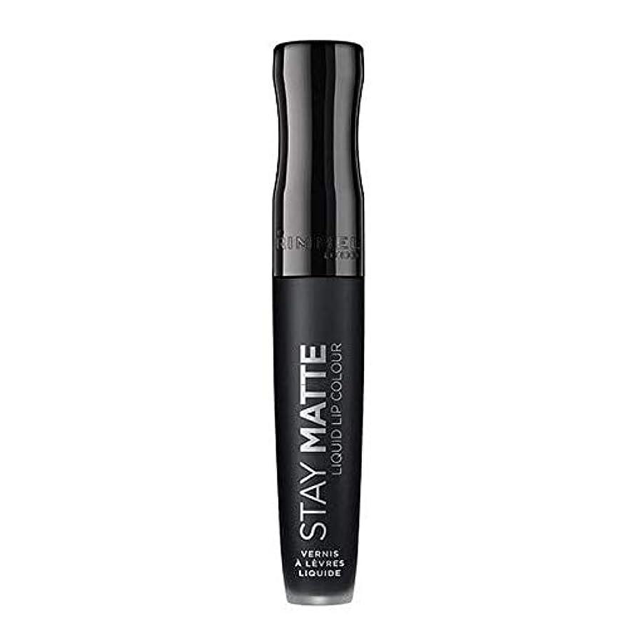 ワードローブ代表して乳白色[Rimmel ] リンメルステイマット液状口紅ピッチ黒840 - Rimmel Stay Matte Liquid Lipstick Pitch Black 840 [並行輸入品]