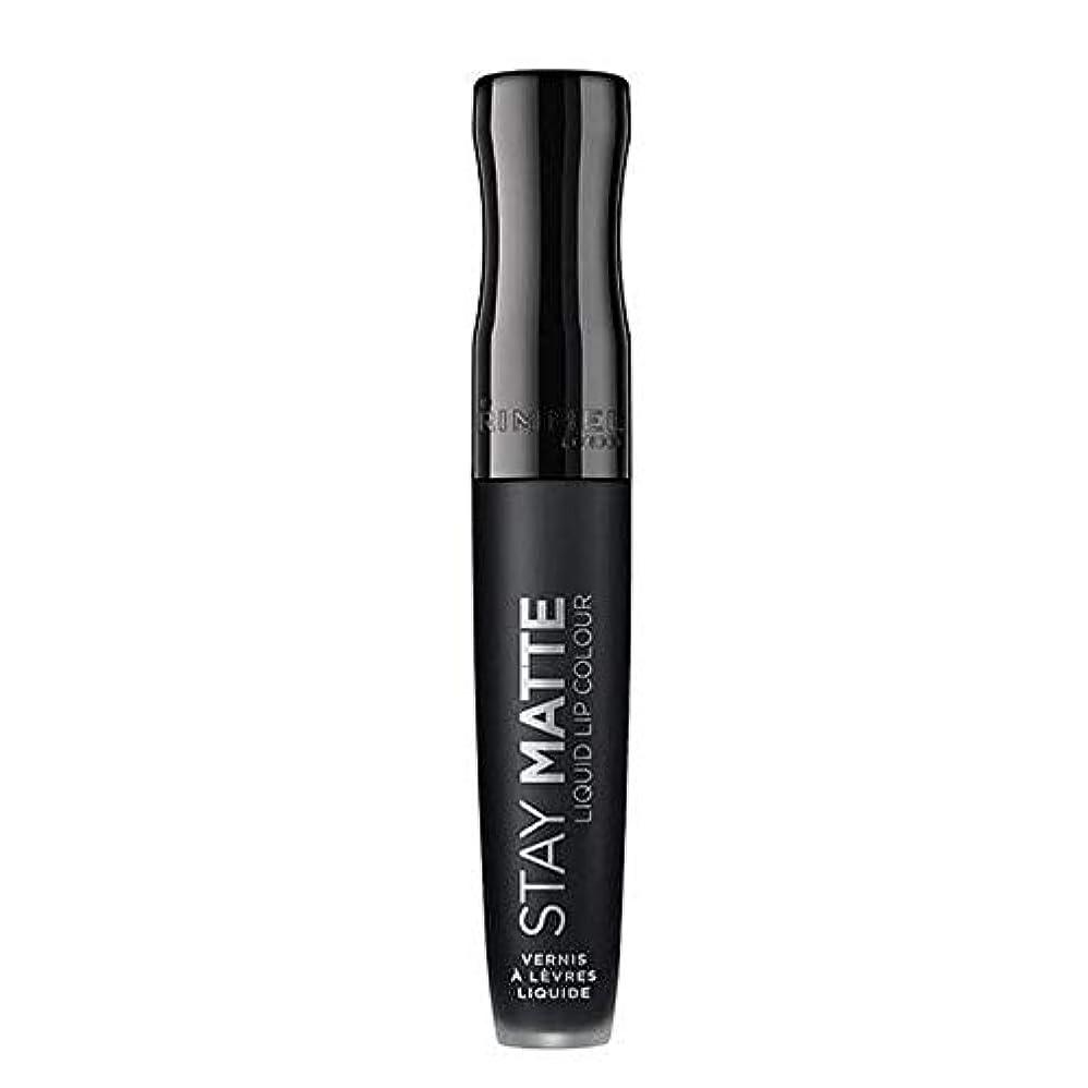ブース槍役割[Rimmel ] リンメルステイマット液状口紅ピッチ黒840 - Rimmel Stay Matte Liquid Lipstick Pitch Black 840 [並行輸入品]
