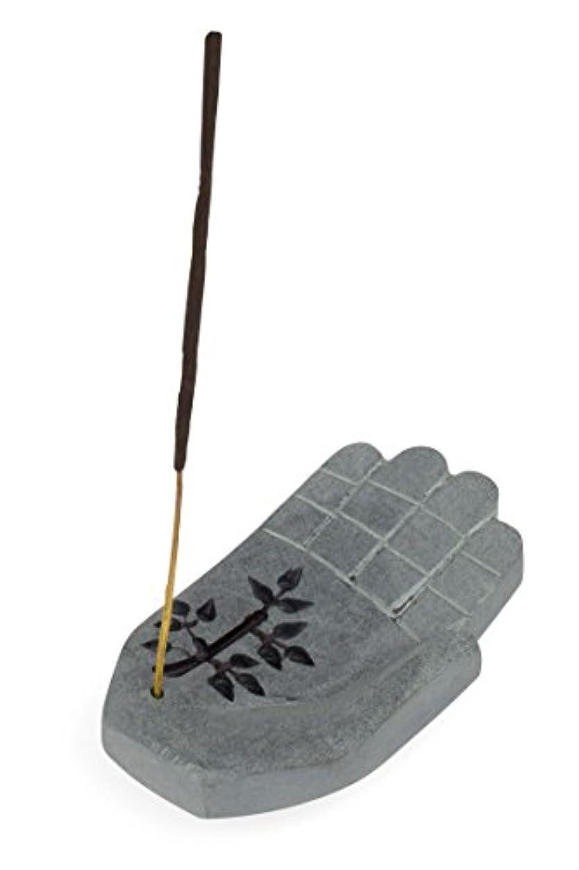 比較的カスケード取得香炉に' Peace Hand Incense Holder '