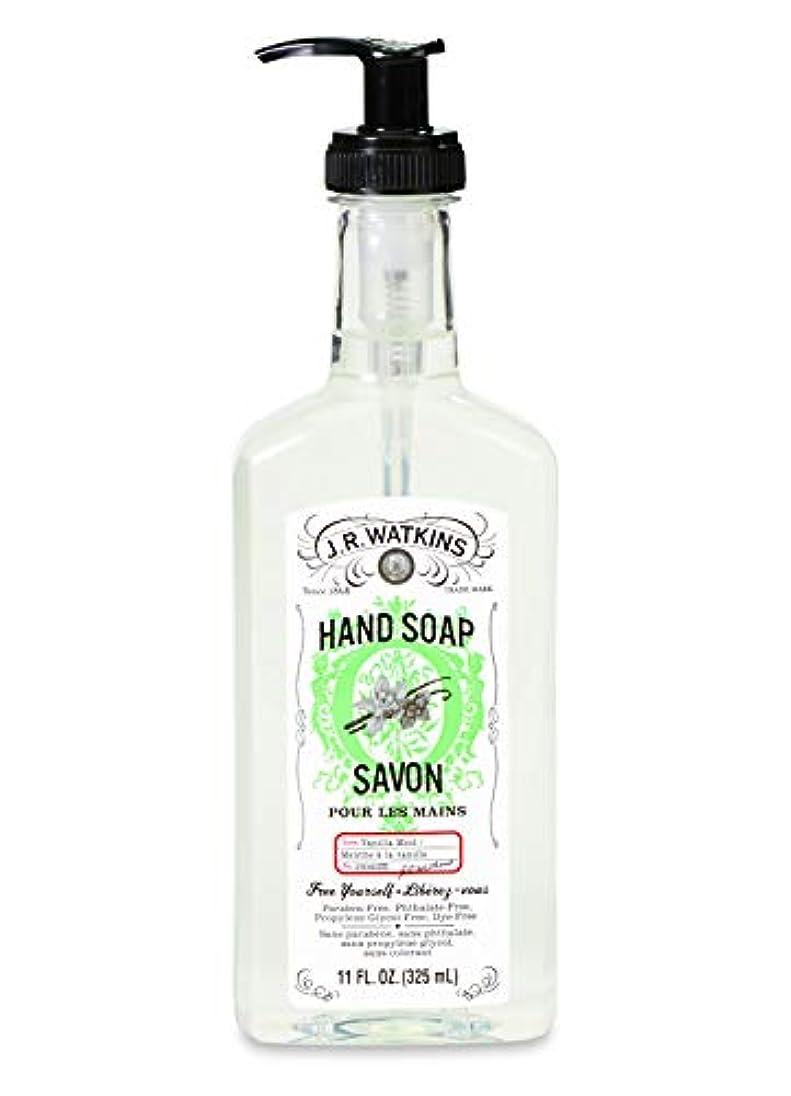 着実に強調三十J.R.Watkins/ハンドソープ バニラミント 325ml リラックス 石鹸 植物由来 保湿 甘い香り