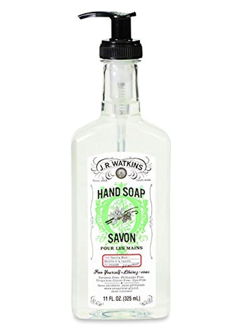 満員貸し手貫入J.R.Watkins/ハンドソープ バニラミント 325ml リラックス 石鹸 植物由来 保湿 甘い香り