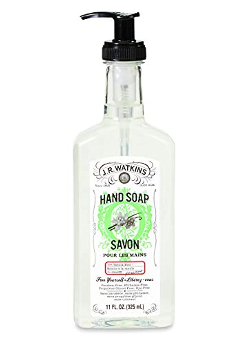 の間でうまくいけばパケットJ.R.Watkins/ハンドソープ バニラミント 325ml リラックス 石鹸 植物由来 保湿 甘い香り