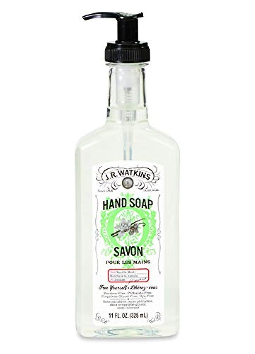万歳ポイント浴J.R.Watkins/ハンドソープ バニラミント 325ml リラックス 石鹸 植物由来 保湿 甘い香り
