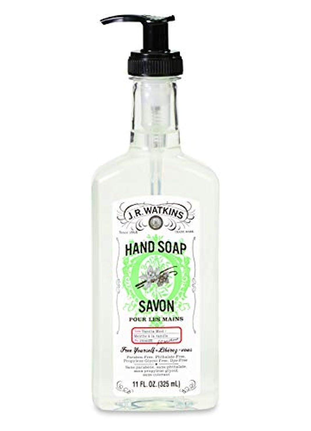 存在するいう有毒なJ.R.Watkins/ハンドソープ バニラミント 325ml リラックス 石鹸 植物由来 保湿 甘い香り