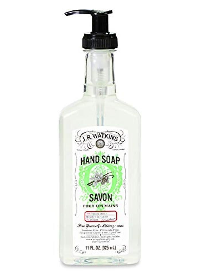 程度甘美なの間でJ.R.Watkins/ハンドソープ バニラミント 325ml リラックス 石鹸 植物由来 保湿 甘い香り