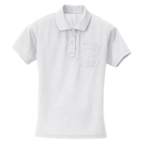(アイトス)AITOZ吸汗速乾(クールコンフォート)レディース半袖ポロシャツ#AZ-10589ホワイトLL