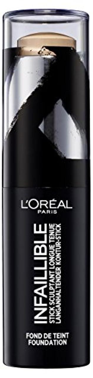 腹部寓話不変(200 Honey) - L'Oreal Paris Infallible Shaping Stick Foundation 200 Honey 9g